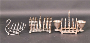 Three English Sterling Toast Racks