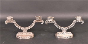 Pair of Tane Mexican Sterling Silver Candleabra