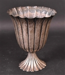 J. Braun Sterling Hand Hammered Fluted Vase