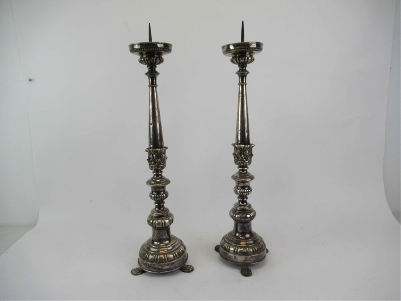 Pair of Silver Plated Pricket Sticks