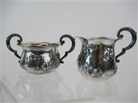 Geo. C. Shreve Sterling Silver Creamer and Sugar