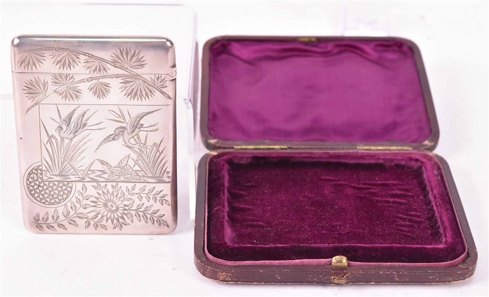 Victorian Silver Japanese Style Card Case