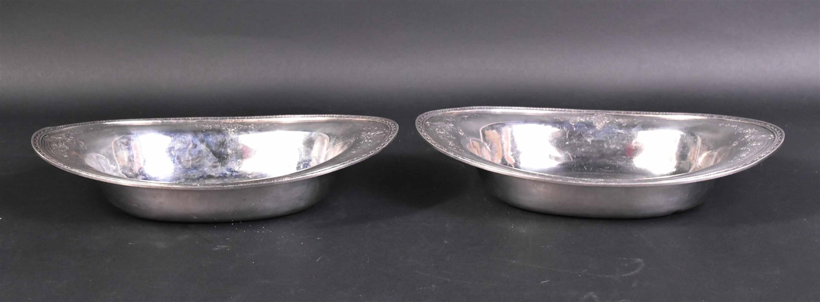 Pair of Sterling Silver Oval Vegetable Dishes