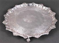 English Georgian Silver Footed Salver