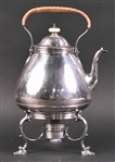 English Georgian Silver Kettle on Stand