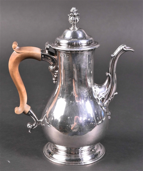 English Georgian Silver Coffee Pot