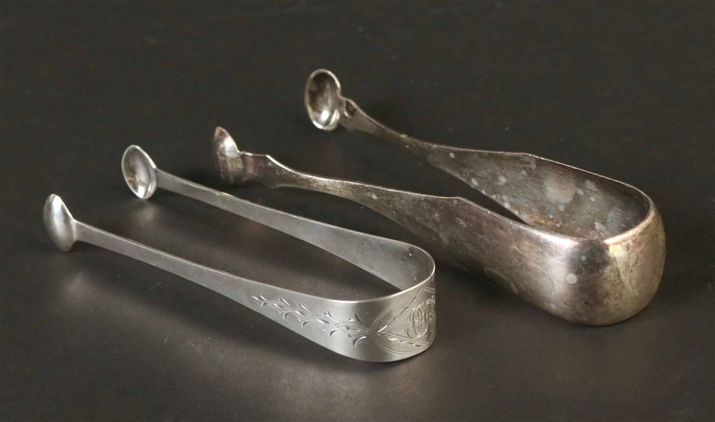 Pair of American Silver Sugar Tongs