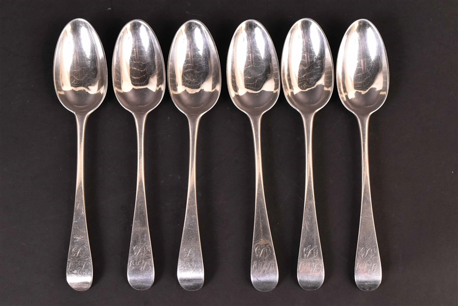 Six American Silver Pierpont MA Tablespoons