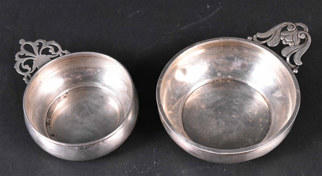 Two Sterling Silver Porringers