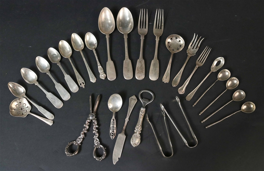 Group of Silver Flatware Items