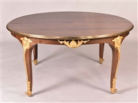 Louis XV Style Ormolu-Mounted Dining Table