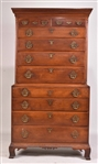 Chippendale Cherrywood Chest-on-Chest