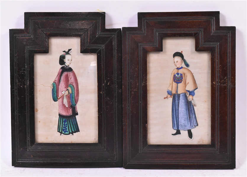 Two Chinese Paintings on Rice Paper
