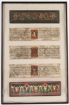 Framed Thai Fragments and Calligraphy
