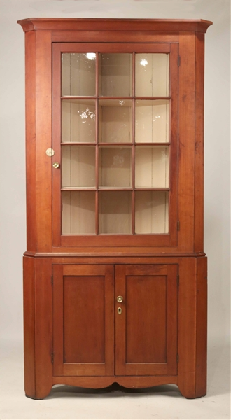 Cherrywood Corner Cupboard