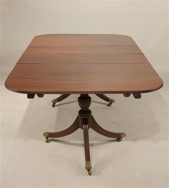 Mahogany Double Pedestal Extension Dining Table