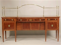 Regency Brass-Mounted Inlaid Mahogany Sideboard