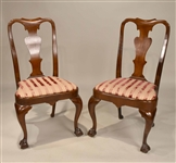 Two George II Mahogany Balloon-Seat Side Chairs