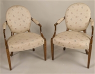 Pair of George III Paint-Decorated Armchairs