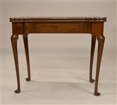 George II Mahogany Turret Top Card Table