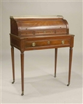 Louis XVI Marble Top Cylinder Front Desk
