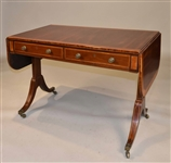 Regency Satinwood-Inlaid Mahogany Sofa Table