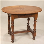 William and Mary Inlaid Cherrywood Tavern Table