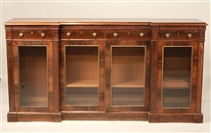 Regency Reverse-Breakfronted Bookcase Cabinet