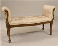 George III Mahogany Bench