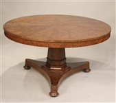 Regency Style Pollard Oak Center Table