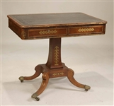 Regency Brass-Inlaid Writing Table