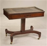 Regency Brass-Mounted Mahogany Writing Desk