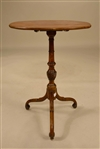 George III Carved Cedar Tilt Top Candlestand