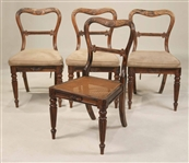 Four Regency Carved Calamander Dining Chairs