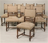 Eight Louis Philippe Fruitwood Dining Chairs