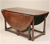 Charles II Turned Oak Gateleg Table