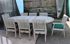 Barlowe Tyrie Oval Hardwood Table & 8 Chairs