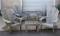 Two Barlow Tyrie Hardwood Andirondack Chairs