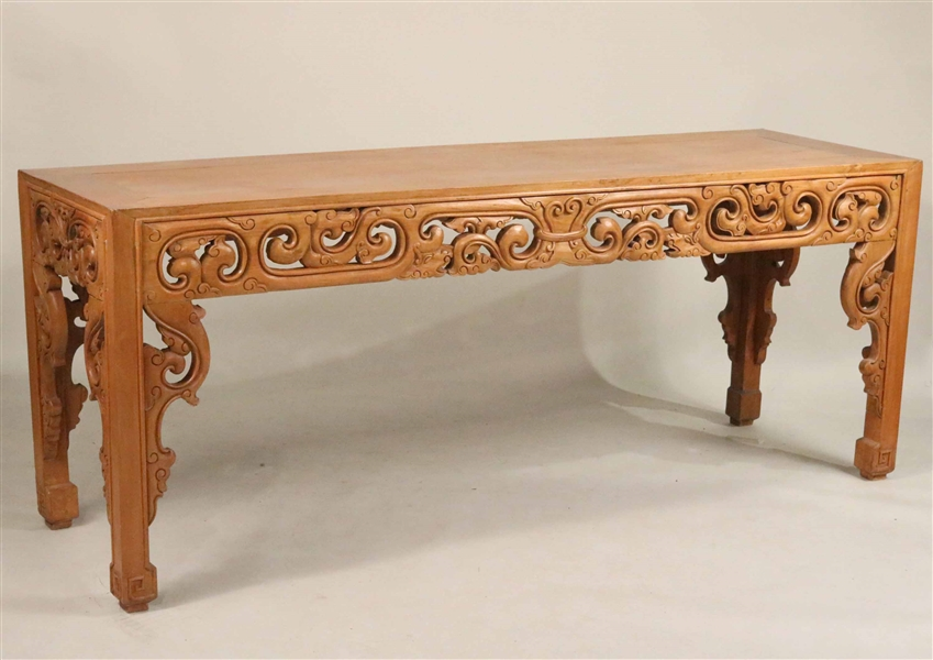 Chinese Style Carved Teak Altar Table