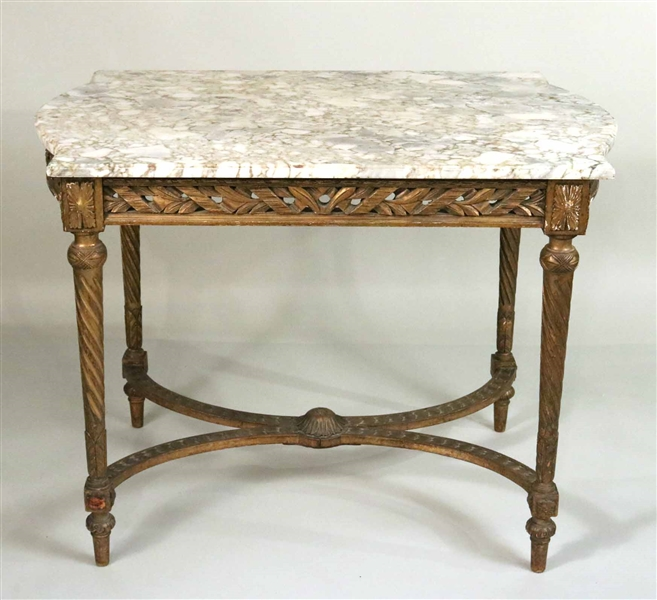 Louis XV Style Marble-Top Center Table