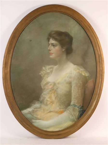 Pastel, Portrait of a Seated Woman