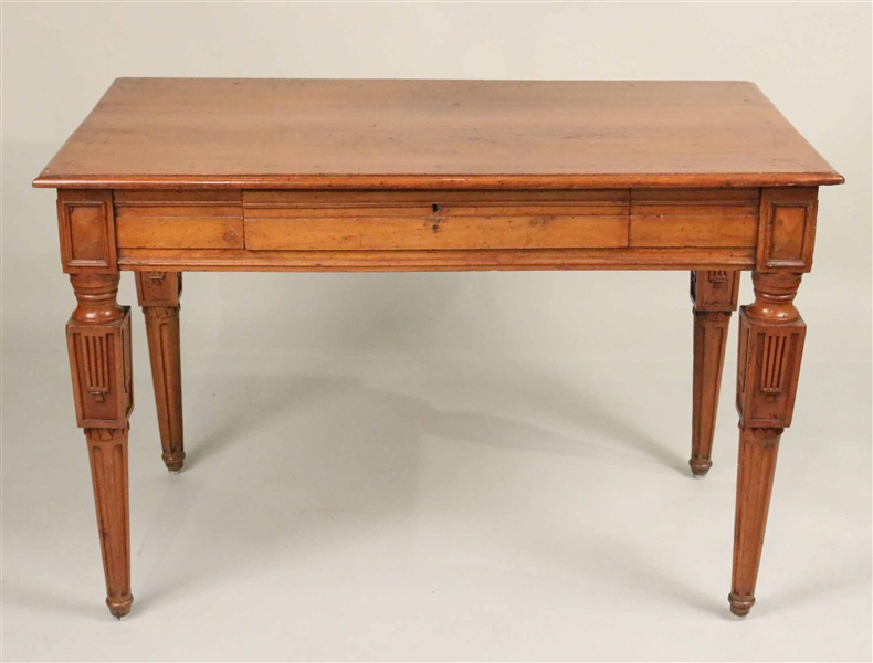 Neoclassical Walnut Writing Table