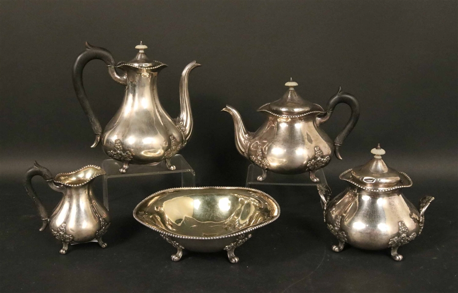 84 Sterling Silver Russian Tea and Coffee Service