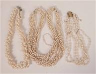 Three Freshwater Pearl Necklaces