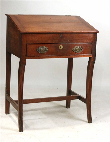 Lot Detail - George III Mahogany Stand-Up Writing Desk