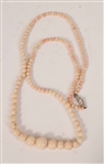 Angel Skin Pink Coral Graduated Beads 750 Clasp