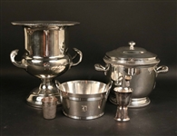 Five Vintage Silver Plated Bar Accessories
