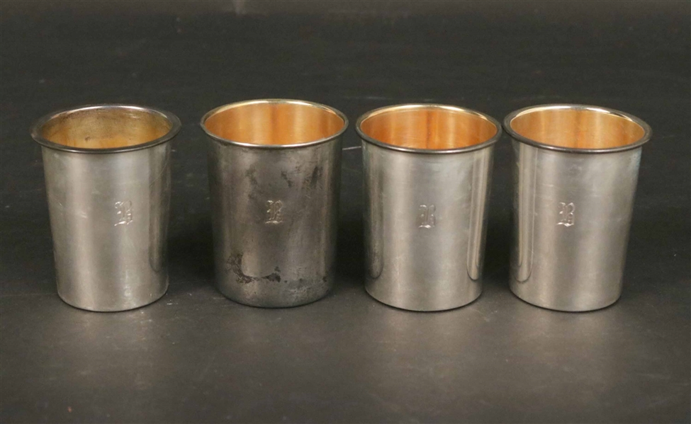 J.E Caldwell Sterling Traveling Nesting Cups