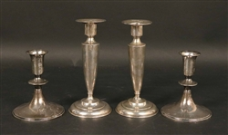 J E Caldwell Sterling Weighted Candlesticks