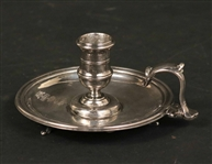 English Sterling Silver Chamberstick